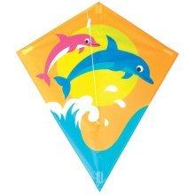 60 x 70cm Children's Dolphin Kite - Breeze Dolphine Fiberglass Frame 30m Line -  breeze dolphine kite fiberglass frame 30m line 60 x 70cm size