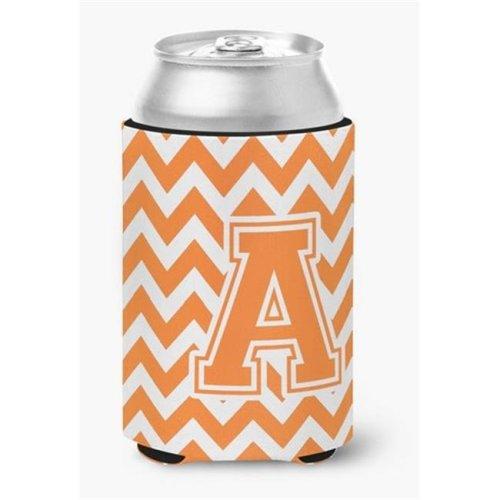 Letter A Chevron Orange & White Can or Bottle Hugger