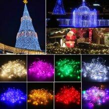 Fairy String Lights 100 LED Christmas Lights Xmas Tree Indoor & Outdoor Garden Decor