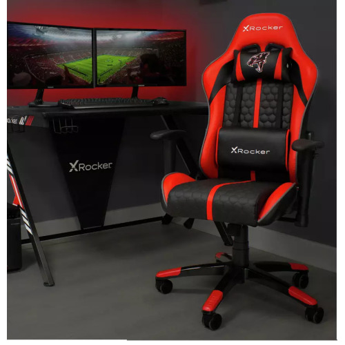 Arteon X Rocker Faux Leather Junior Gaming Chair - Red