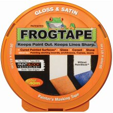 Frog Tape Orange Gloss & Satin Painters Masking Tape 36mm x 41.1m. Indoor painting and decorating for sharp lines and no paint bleed
