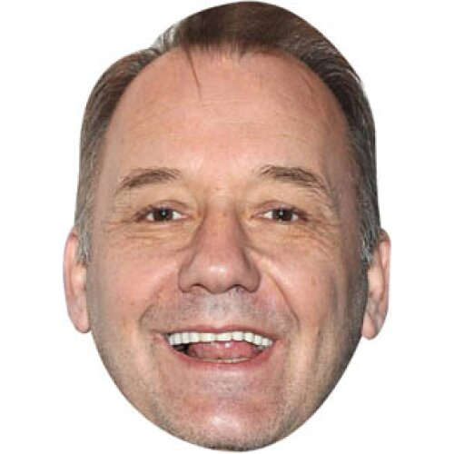 Bob mortimer comedian celebrity party face fancy dress