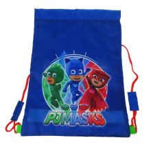 Boys PJ Masks Drawstring Sports Trainer Bag Blue 1.3 Litres