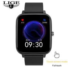 smart watch men heart rate blood pressure multifunctional sports watch Smart Watches(black)