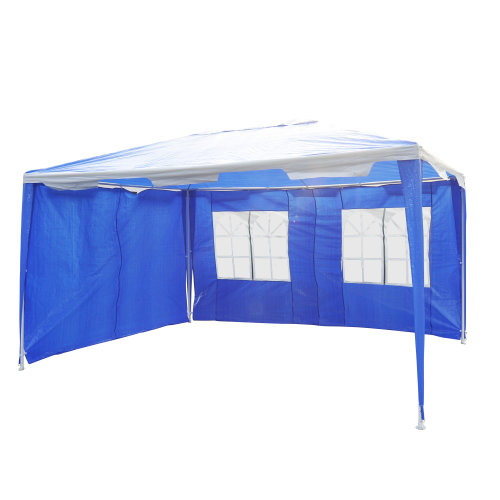 Outsunny Garden Gazebo Outdoor Canopy Marquee Party Tent Blue 4 x 3 m