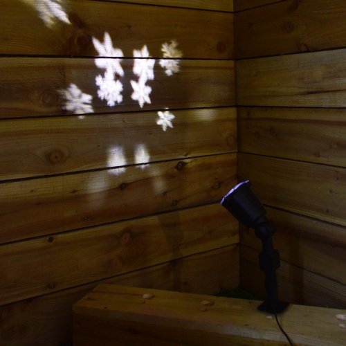White LED Snowflake Projector Light Outdoor / Indoor Christmas / Festive