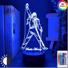 3D Led Night Light Lamp British Singer Freddie Mercury
