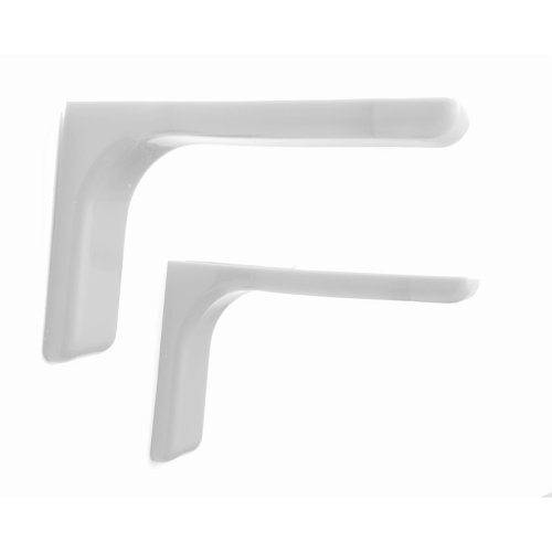Shelf support brackets with covers 120mm Invisible/Concealed Fixings White