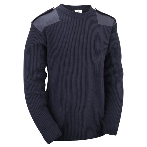 (Navy, S) New Military Commando Security Sweater Pullover
