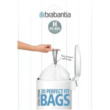 Brabantia Bin Liners, Size H, 50-60 L - 30 Bags