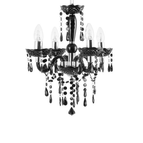 4 Light Chandelier Black KALANG