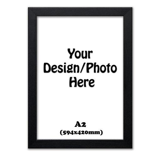 A2 (594x420mm) Photo Frames, Black Picture Frame, Wooden Effect Frames