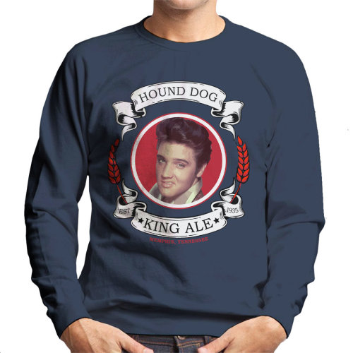 Hound Dog King Ale Elvis Presley Men's Sweatshirt