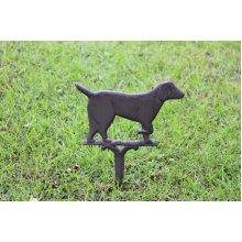 Rustic Cast Iron Garden Ornament, Dog