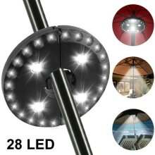 Patio Umbrella Parasol Light 3 Brightness Mode Outdoors Camping Garden Yard Lamp