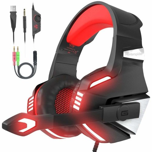 Gaming Headset PS4, Gamer Headphone with Mic  Stereo Noise Cancelling