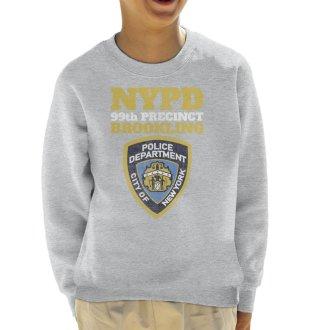 (X-Large (12-13 yrs), Heather Grey) Brookling 99th Precinct Brooklyn Nine Nine Kid's Sweatshirt