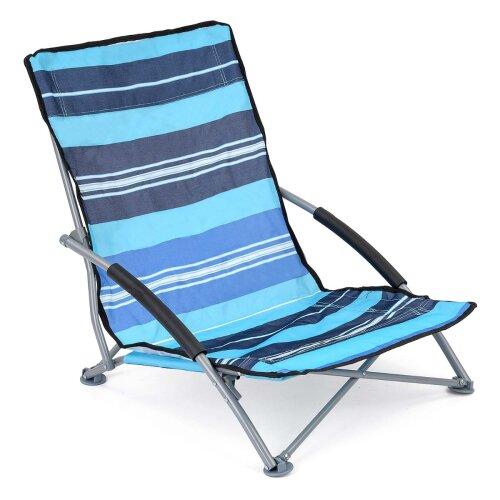 Low Folding Beach Chair Short Sun Lounger Seat Garden Camping Fishing Trail
