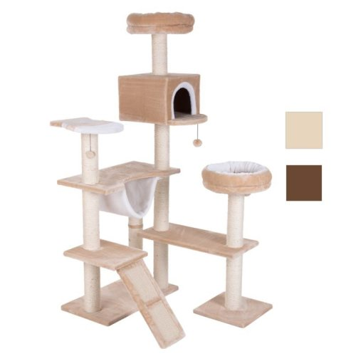 Cat Tree Gingerbread House with Ladder Play Tower