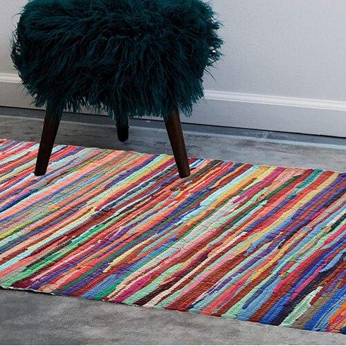Allure Handmade Chindi Rag Rug from Recycled Fabrics