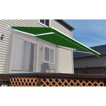 Aleko AW13X10GREEN39-UNB 13 x 10 ft. Retractable Outdoor Deck Sunshade Patio Awning, Green