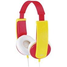 JVC HA-KD5-R-EF Children On-ear headphones Red, Yellow