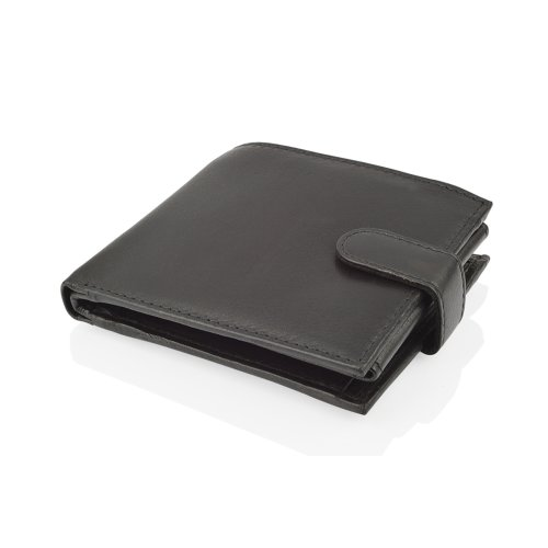 "Woodland Leather Black Bi Fold 4.5"" RFID Multi Pocket Wallet"