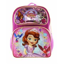 """Backpack - Sofia The First - Sweet & Kind Pink 16"""" New 008529"""