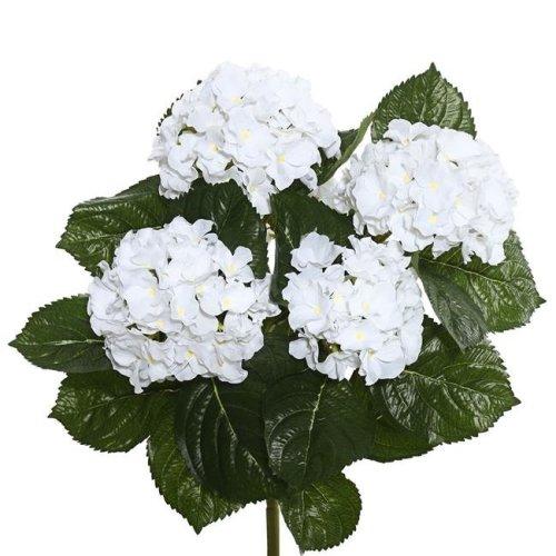 Vickerman FL171501 White Hydrangea X5 Floral Bush - 17.5 in.
