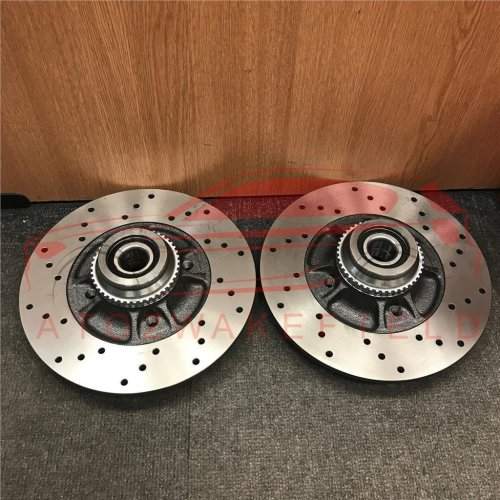 FOR RENAULT CLIO SPORT 172 CUP REAR PERFORMANCE DRILLED BRAKE DISCS PAIR 238mm