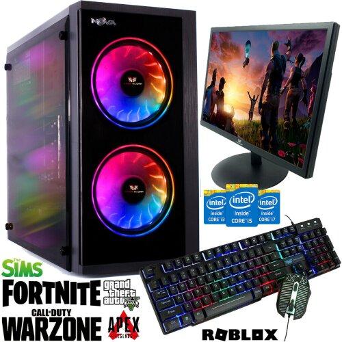Intel Core i3 Gaming PC 3.10GHz 8GB RAM 1TB HDD GT710  W10 Computer NV - Refurbished