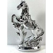 ITALIAN SILVER HORSE ROMANY BLING ORNAMENT CERAMIC CRUSH DIAMOND GIFT