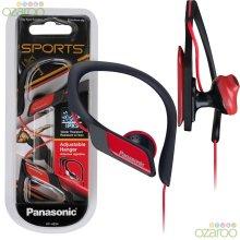 Panasonic In-Ear Clip Type Sports Gym Comfort Water-Resistant Earphones - Red
