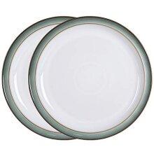 Denby Regency Green 2 Piece Dinner Plate Set