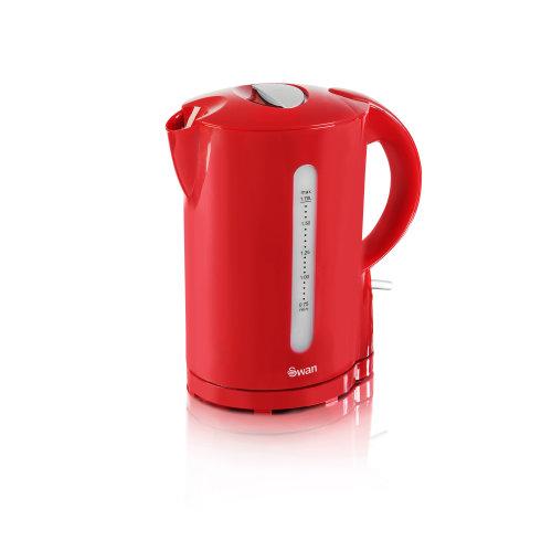 (Swan 1.7 Litre Jug Kettle Red) Swan 1.7 Litre Jug Kettle | Cordless Electric Kettle