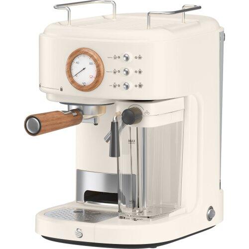 Swan Nordic SK22150WHTN Espresso Coffee Machine - Cotton White