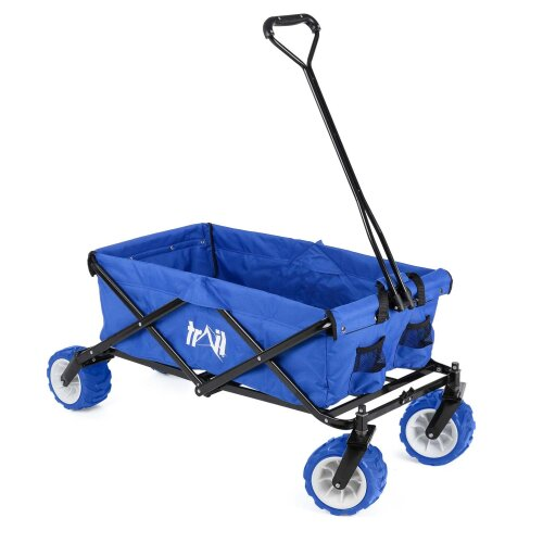 Collapsible Portable Camping Wagon Trolley Folding Wheeled Festival Carry Cart