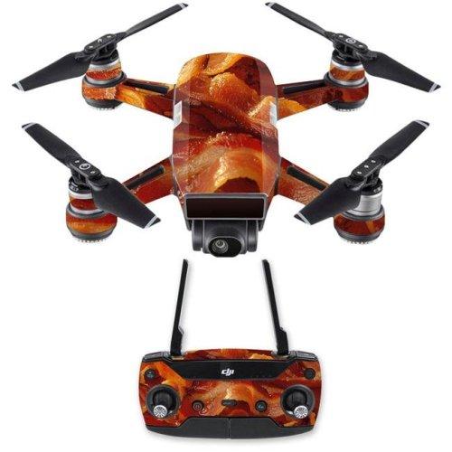 MightySkins DJSPCMB-Bacon Skin Decal Wrap for DJI Spark Mini Drone Combo Sticker - Bacon
