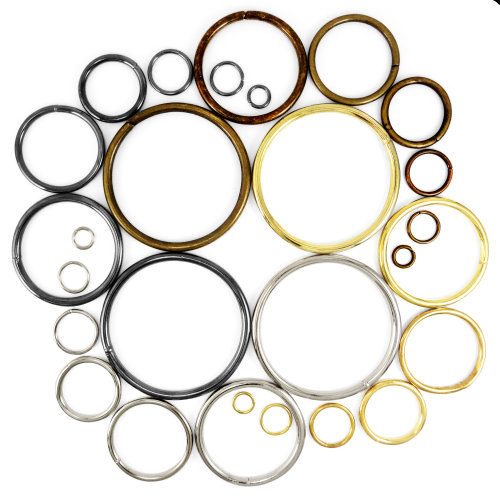 10 pcs - O Rings Metal Steel Straps Collars Craft