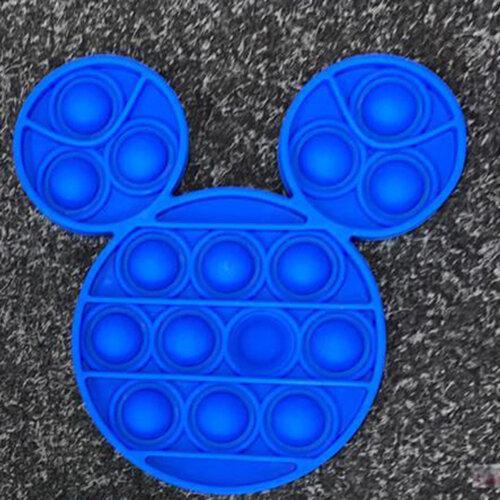 BLUE Mickey PopIt Finger Push Pop Pop Bubble Sensory Fidget Toy