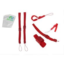 2 Wrist Strap Lanyard for Nintendo Wii, 3DS, 2DS, PSP, DSi (Red)