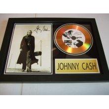 JOHNNY CASH  SIGNED DISC