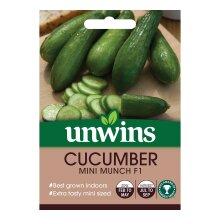 Unwins Grow Your Own Mini Munch F1 Cucumber Vegetable Seeds
