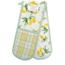 Double Oven Glove Lemons Design By Country Club