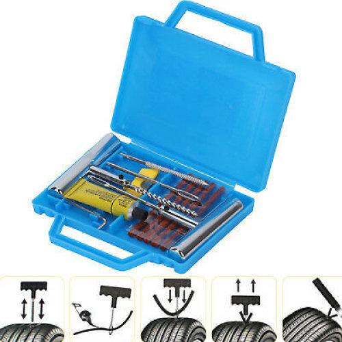 11Pcs Car Tire Heavy Duty Repair Kit Tubeless Wheel Tire Mending Tools