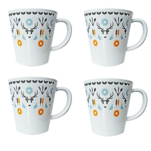 OLPRO Whitbourne Melamine Mug Set (Pack of 4)
