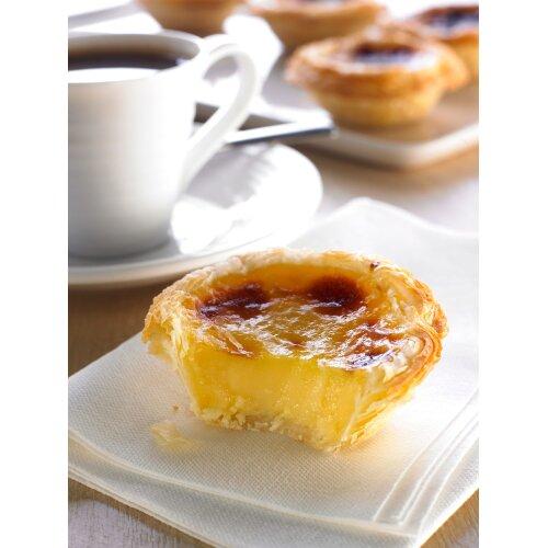 Schulstad Bakery Solutions Frozen Portuguese Custard Tarts - 48x58g