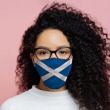 Scotland (Scottish) Flag Reusable Face Covering - Large X 1 Pack