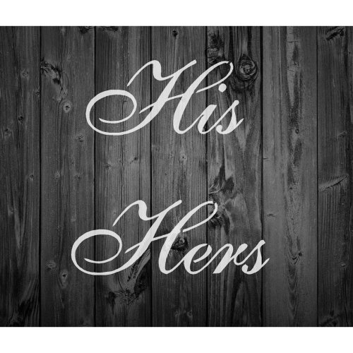 French Vintage Shabby Chic Mylar Stencil 'His Hers' A5 / A4 / A3 (30)