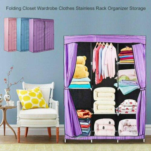 Large Canvas Cupboard Fabric Wardrobe